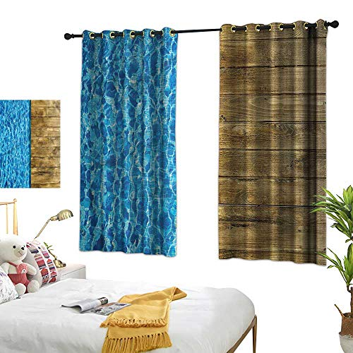 (G Idle Sky Simple Curtain Aqua Non-Toxic Curtain Swimming Pool with Deck 72