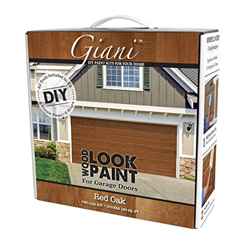 Giani Wood Look Garage Door Paint Kit, 2 Car, Red Oak Door Skin Tool Kit