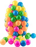 #7: Ball Pit 100 Pack - Ball Pit Balls Crush Proof BPA Free - 6 Colors - Fun Ball Pit For Kids and Baby - Ball Pit For Any Ball Pool - Original - By Play22