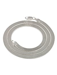Real 925 Sterling Silver 4.5mm 18 Inch Herringbone Chain Necklace