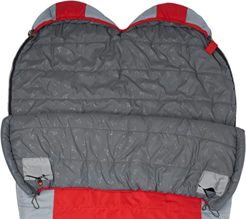 TETON Sports Tracker +5F Double-Wide Sleeping Bag Perfect for Camping, Hiking, and Backpacking; Free Compression Sack Included by Teton Sports (Image #1)