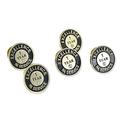 65403620550 WIZARDPINS Excellence In Service One Year Lapel Pin– 5 Pins by WIZARDPINS  (Image #