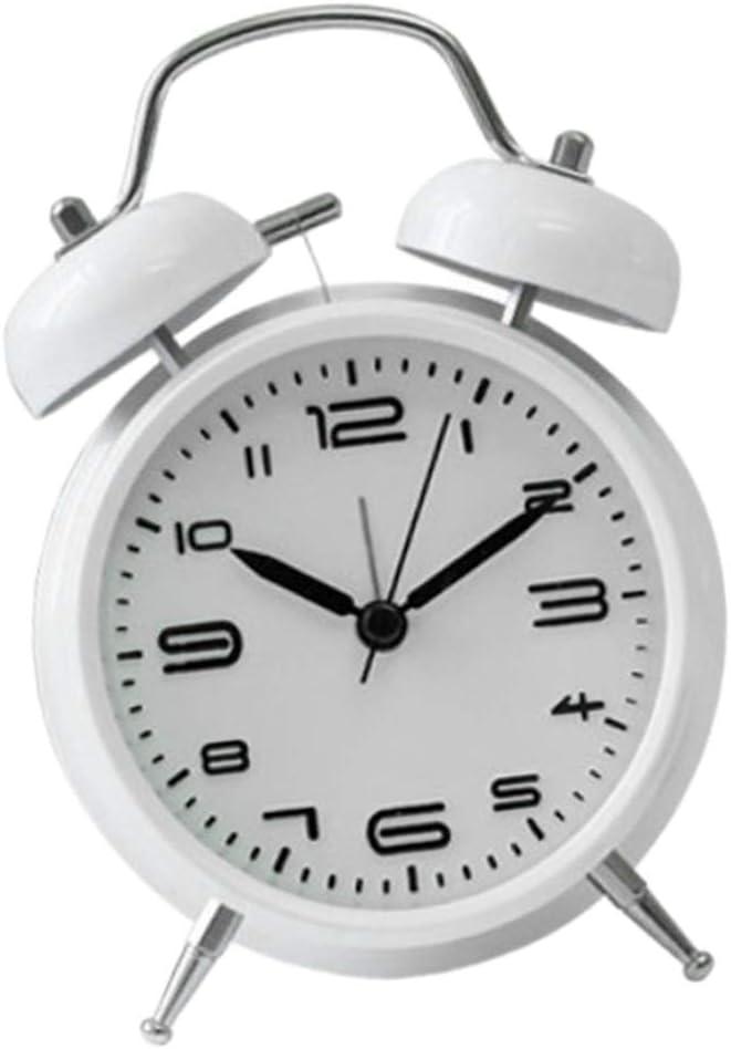 F Fityle R/éveil Mini Horloge M/écanique Remontage Muet Mouvement Affichage Pr/écis Bleu fonc/é