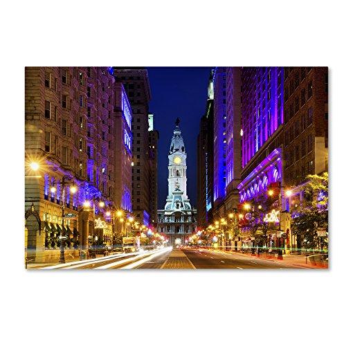 City Hall Philadelphia by Philippe Hugonnard, 22x32-Inch Canvas Wall Art