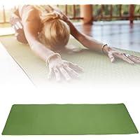Fitness Yoga Pad, ejercicio portátil en casa Niños bailando Yoga Cojín para principiantes TPE Entrenamiento antideslizante Colchoneta de ejercicios ultra gruesa para alfombra Ballet Pilates(Verde)