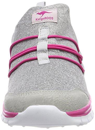Baskets vapor Kangaroos Mixte K run Slip Flower magenta Grey Grau Adulte 0qRwq