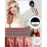 Selfie Ring Light,Werleo Rechargable Camera Flash Fill Light Dimmable Selfie LED Spotlight Lamp [36 LEDs]&Cell Phone Ring Grip Holder for iPhone iPad Macbook Sumsung Galaxy Note Android Phones Tablets