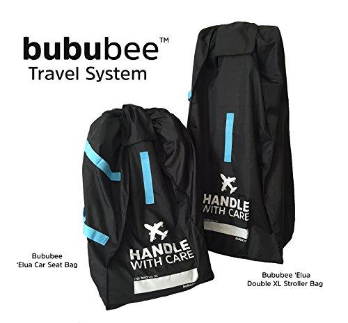 Bububee Elua Xl Double Stroller Gate Check Travel Bag Black Amp Aqua Buy Online In Uae
