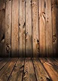 Qian Wooden Floor Studio Props Photography Background Vinyl Photo Backdrop 5x7ft