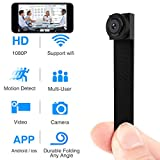 Spy Hidden Camera, Wireless Wi-Fi Camera 1080P APP Mini Portable Covert Security Cam