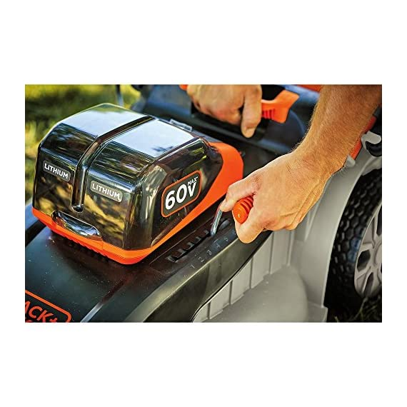 BLACK AND DECKER 60 V MAX POWERSWAP 20 In. 6 Powerswap lets you quickly swap batteries with the push of a button Autosense technology conserves Battery power when possible to give you extended runtime Includes 2) 2.5 Ah - 60V max Lithium batteries give you twice the runtime per re-charge