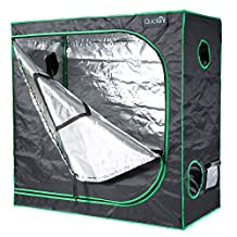 "Quictent SGS Approved Eco-friendly 48""x24""x48"" Reflective Mylar Hydroponic Grow Tent with Heavy Duty Anti-burst Zipper and waterproof Floor Tray for Indoor Plant Growing 4'x2'"