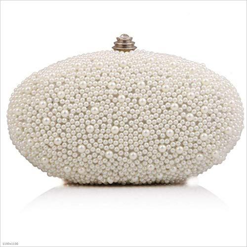 Oca Da ' apricot Sera Borsa Abito Bag Ladies Forma Borsa Mymao Di Pearl A Uovo White Personalizzato Sera FqY1tg
