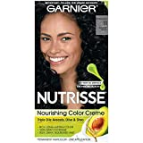 permanent Garnier Nutrisse Nourishing Hair Color Creme, 11  Blackest Black  (Packaging May Vary)
