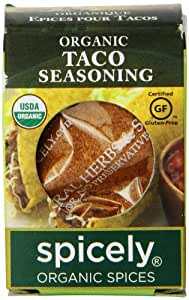 Spicely Organic Seasoning, Taco Salt Free - Compact