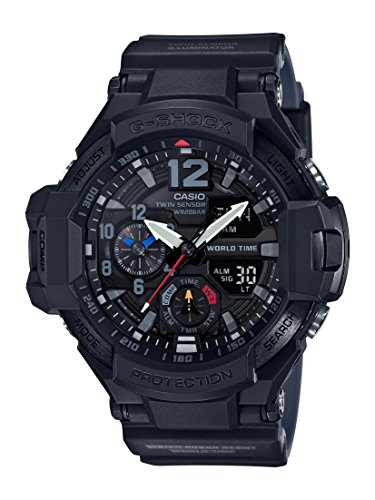 Casio G-Shock GA1100-1A1 MASTER of G GRAVITY MASTER Compass - Thermometer Watch