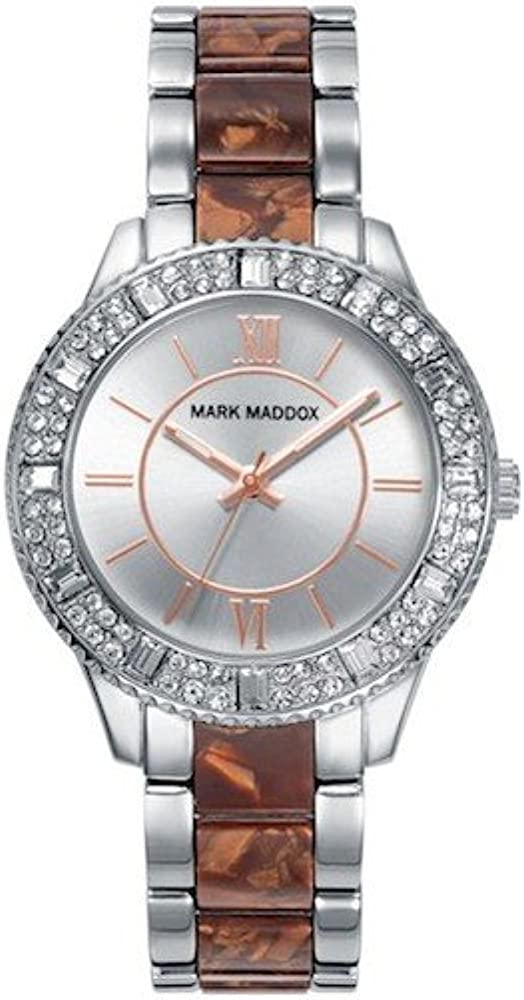 Mark Maddox MP0004-43 - Reloj, impermeable, 30m, color plateado/marrón