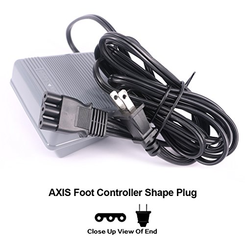 Foot Controller And Power Cord 033770217 Sewing Machine Foot Control Pedal & Cord Sergers Kenmore Janome 644d 734d Viking Huskystar UL listed - Kenmore Sewing Machine Foot Control