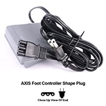 Foot Controller And Power Cord 033770217 Sewing Machine Foot Control Pedal & Cord Sergers Kenmore Janome 644d 734d Viking Huskystar