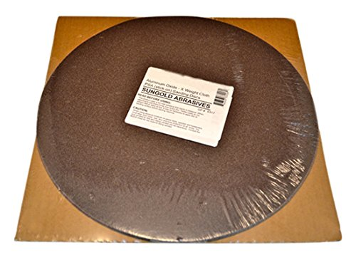 Sungold Abrasives 33212 320 Grit X-Weight Cloth Premium Industrial Aluminum Oxide PSA Stick-On Sanding Discs for Stationary Sanders Sanding Discs (3 Pack), 12' 12