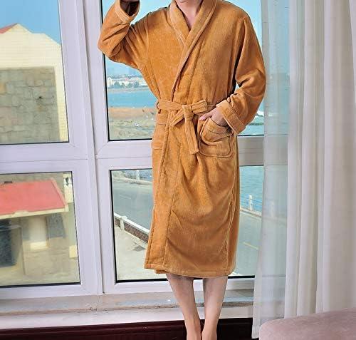 Pyjama de nuit Corte de albornoz de terciopelo algodón, macho y hembra, camisón, otoño e invierno,