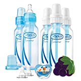 Dr Brown's 8-Ouncez Standard 5-pack Bottles Boy Gift Set with Pacifier/Teether/Nipples