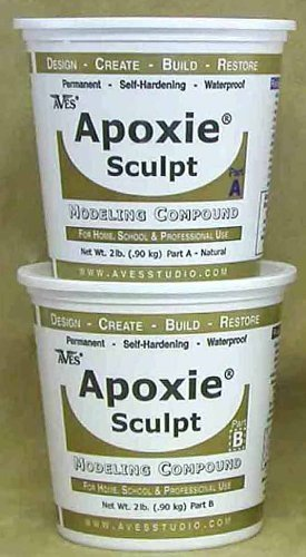 Apoxie Sculpt 4 lb. White, 2 part modeling compound (A & B)