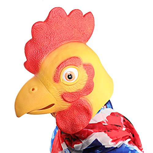 [XIAO MO GU Latex Halloween Costume Decorations Animal Head Mask Chicken] (Baby Head Mask)