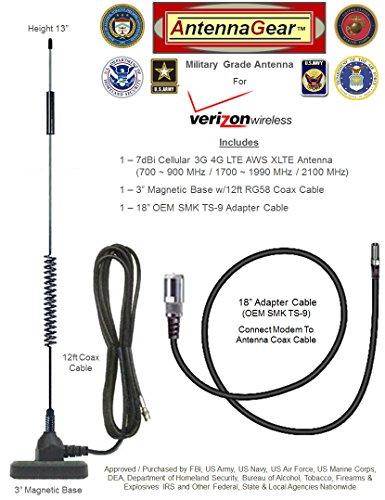 AntennaGear 7dB Novatel Verizon USB760, Sprint Ovation U7...