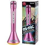 Mi-Mic kids Karaoke Microphone Speaker with Wireless Bluetooth and LED Lights, Pink