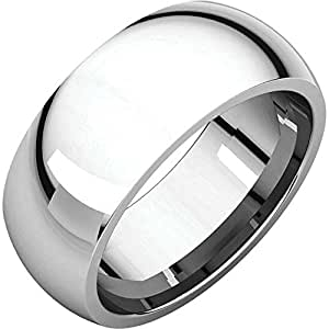 08.00 mm Comfort-Fit Wedding Band Ring in Platinum ( Size 9.5 )