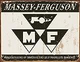 Massey Ferguson Logo Tin Sign 16 x 12in