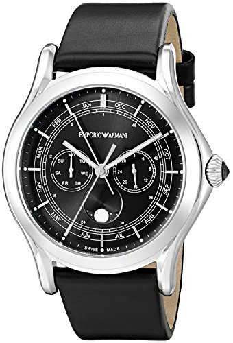 Emporio-Armani-Swiss-Made-Mens-ARS4200-Analog-Display-Swiss-Quartz-Black-Watch