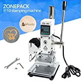 hot stamping foil - ZONEPACK Hot Foil Stamping Machine 810cm Digital Embossing Machine Manual Tipper Stamper For Pvc Leather Pu And Paper Stamping With Paper Holder