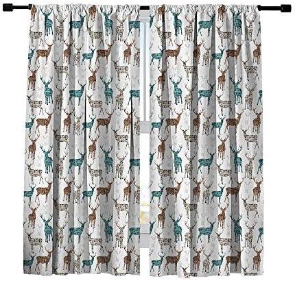 Misscc Decor Blackout Curtains