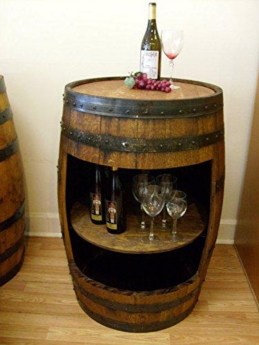 Aged White Oak Barrel Cabinet Table