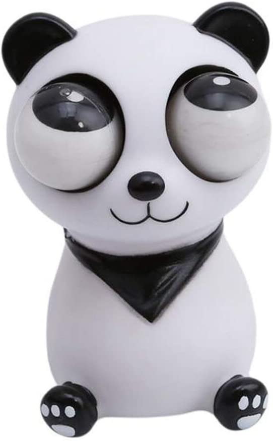 iMagitek Popping Out Eyes Squeeze Toys - Stress Relief Decoration Toy, Decompression Panda Toy