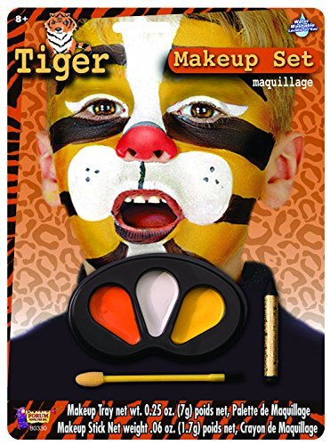Forum Novelties Tiger Makeup Kit for Children - Halloween Animal Face Paint for Kids -