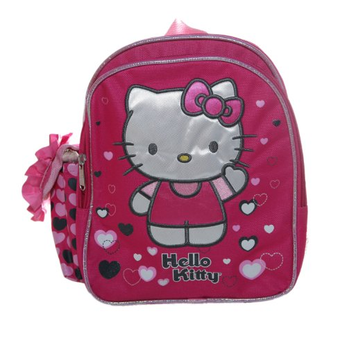 Hello Kitty Lonely Hearts Toddler Backpack Bag ()