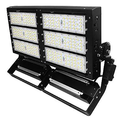 LED Flood Light 600W,Super Bright Stadium Lights,Parking Lot Shoebox Arena Perimeter and Security Lighting Fixture,80000LM,5000K,IP66 Waterproof Outdoor LED Floodlight