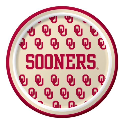 Oklahoma Sooners Dessert Paper Plates, 8-Count -