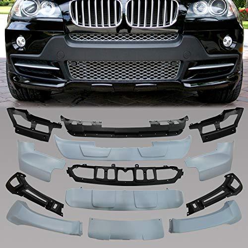 HelenAutoparts Aerodynamic Body Kit 13 Pcs for 2007-2010 BMW X5 E70 Front & Rear Bumper