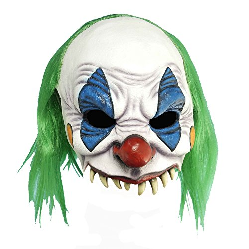 House 1000 Corpses Costumes - New Adult Scary Evil Clown Mask Costume Accessory