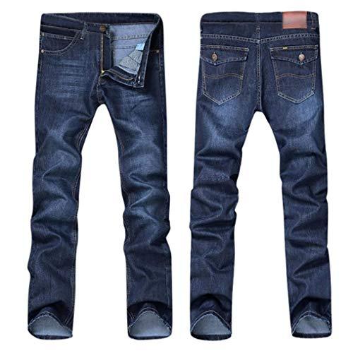 Uomo Estilo Moda Especial Jeans Casual Slim Da Lunghi E Blau Pantaloni Uomo Fit SYXqw5tf