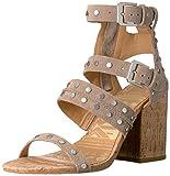 Dolce Vita Women's Effie Heeled Sandal, Taupe Suede, 6 M US
