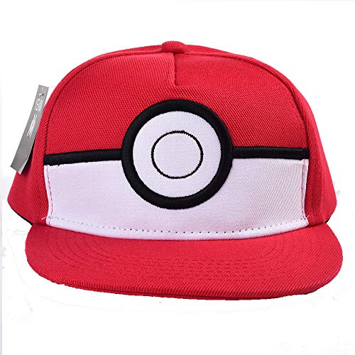 (YEAM Pokemon Red Kids 5 Panel Pokeball Snapback)
