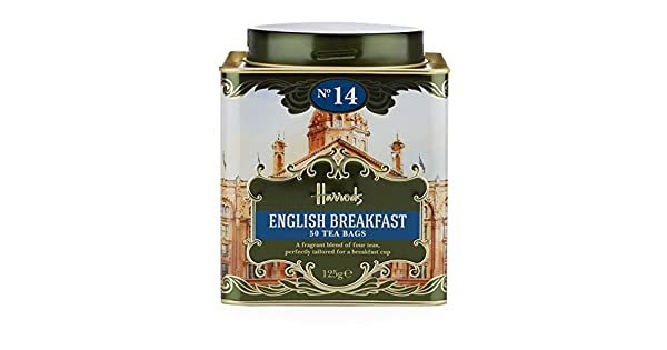 Harrods London Earl Grey 50 bolsas de té, 4.41 oz: Amazon ...