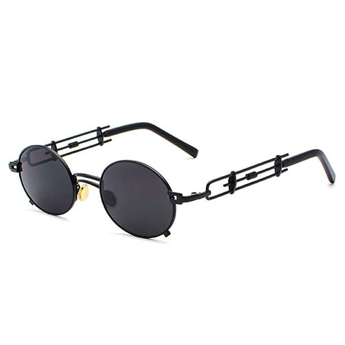 Gafas de sol Steampunk Gafas Retro Marco de Metal Hueco ...
