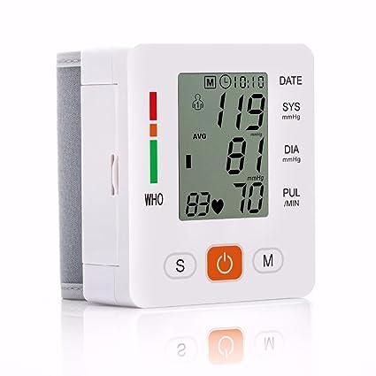LiuHanQing Monitor de presión arterial Cuidado De La Salud Nuevo Tensiometro Digital De Muñeca Monitor De