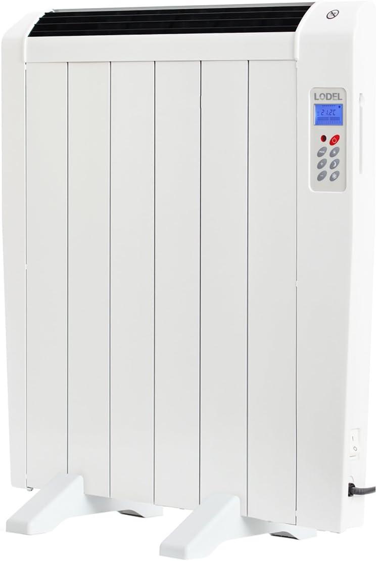 Lodel RA6 - Emisor Térmico Digital Bajo Consumo, 900 de Potencia, 6 Elementos, Programable, Diseño Ultrafino y Ligero